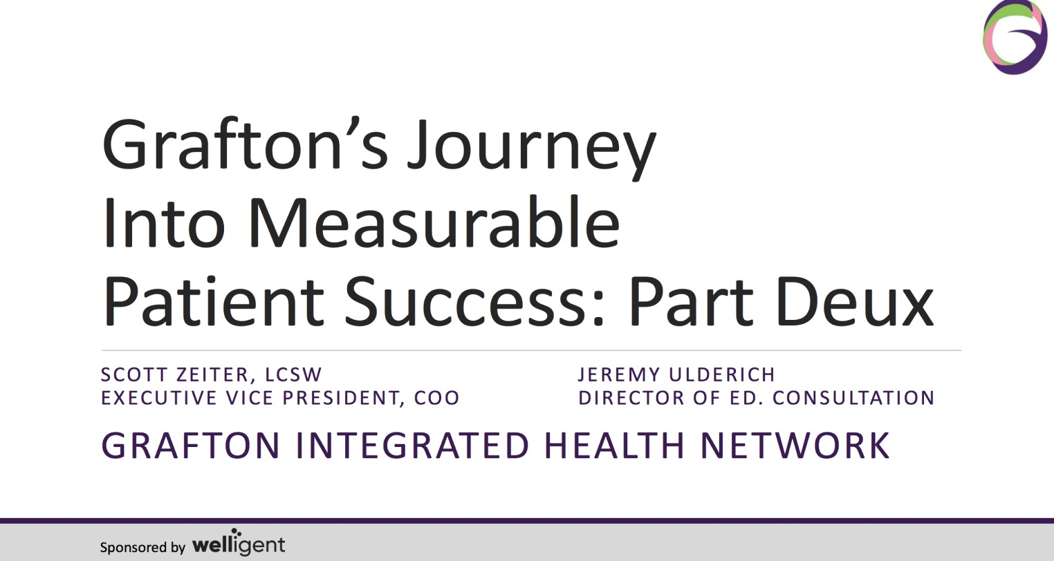 Knowledge Partner Session: Grafton's Journey Into Measurable Patient Success